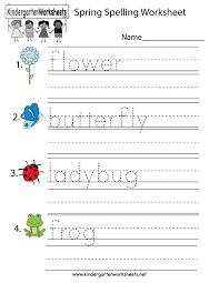 spring spelling worksheet free kindergarten seasonal worksheet