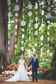 wedding backdrop outdoor 34 doily wedding decor ideas happywedd
