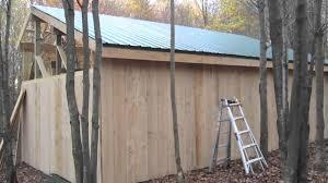 pole barn framing purlins installing board u0026 baton siding