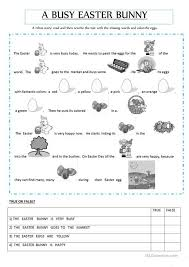 the story of the easter bunny rebus story about an easter bunny worksheet free esl printable