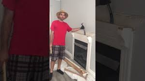 greg the contractor removing a fireplace and mantle fake redneck