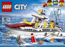 amazon com lego city fishing boat 60147 creative play toy toys