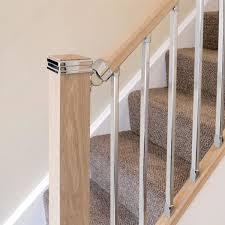 chrome banister rails solution chrome handrail connector jackson woodturners