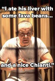 Silence Of The Lambs Meme - 106 best i ate his liver with some fava beans and a nice chianti