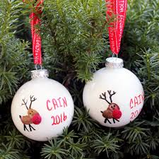 reindeer ornaments fingerprint christmas ornament reindeer the country chic cottage