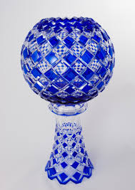 Cobalt Blue Crystal Vase Blue Crystal Vase Sphere Crystal Treasury Com