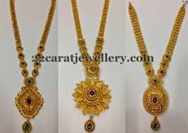 gold pendant long necklace images Gold long chains floral pendants jewellery designs long chain jpg