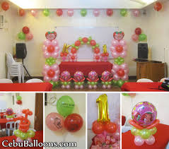 Strawberry Shortcake Balloon Decoration at AA s Barbeque Pusok