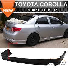 toyota corolla 09 09 10 toyota corolla sedan k style pu rear bumper lip spoiler