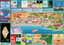 St Thomas Virgin Islands Map Map Of Charlotte Amalie St Thomas Island Treasure Maps