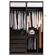 pax wardrobe black brown auli ilseng 150x66x236 cm ikea