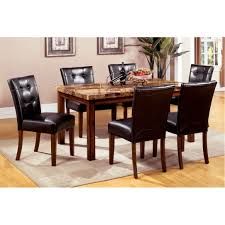 marble dining room sets smith pc faux marble dining set