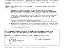 Government Contractor Resume Innovation Design Subway Resume 5 Doc19871987 Resume For Apple