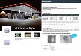 Gas Station Canopy Light Bulbs by Led Canopy Light National Led