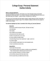 personal statement examples for college essays high