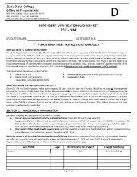 printables dependant verification worksheet eleaseit thousands