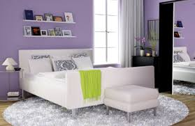bedroom casual ideas for gray and purple bedroom decoration using