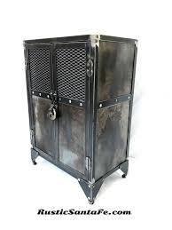 modern industrial locking liquor cabinet reclaimed industrial