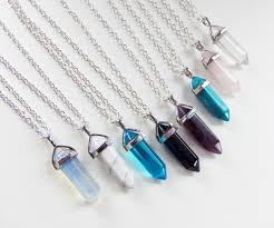 crystal shaped necklace images Crystal necklace crystal quartz healing crystals hexagonal jpg