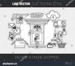 retail shop floor plan line vector concept composition line icons stock vector 358911563