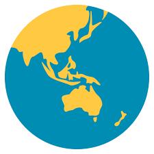 africa map emoji earth globe asia australia emoji for email sms id