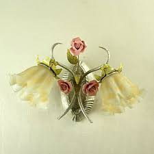 Wall Sconces For Flowers Aliexpress Com Buy Led Wall Lamps Country Style Floral Flower