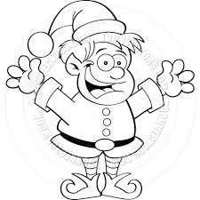christmas elf clipart black and white clipartxtras