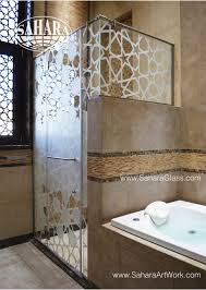 Shower Partitions Shower Enclosure With Classic Sandblast Design And Sliding System