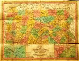 State Map Of Pennsylvania by Pennsylvania In Early Pocket Maps