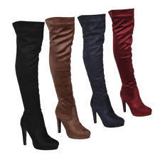 womens knee high boots size 11 stiletto suede knee boots for ebay
