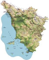 Italy Physical Map by Tuscany Physical Map Tuscany Italy U2022 Mappery