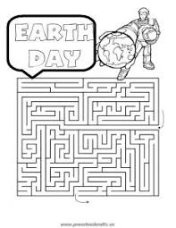 printable happy earth day mazes worksheets for kids free