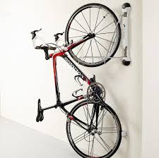 Bicycle Ceiling Hoist by Compact Vertical Bike Rack Wall Mount Storeyourboard Com