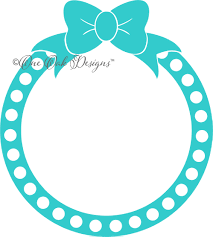 bow monogram bow dot circle monogram frame svg
