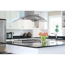 kitchen island extractor hood kitchen island range hoods curved glass island range hood over black
