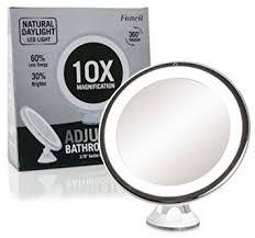 makeup mirror 10x magnification with light amazon com fancii daylight led 10x magnifying makeup mirror 8 0