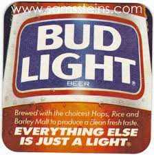 is bud light made with rice bud light just a light beer coaster sam s man cave