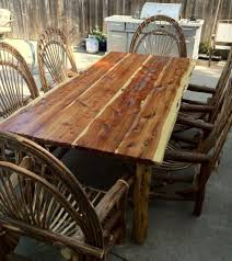 Cypress Outdoor Furniture by Cypress Furniture Solid Cedar Table Any Length Branch U0027n Out