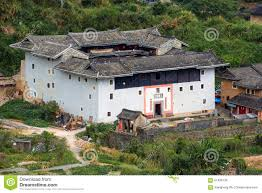 courtyard homes fujian tulou traditional homes courtyard editorial stock