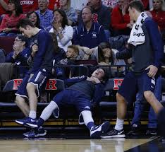 basketball player on bench look monmouth wins again bench goes star wars in latest