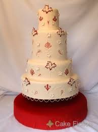 Cake Fiction Indian Wedding Cake With Damask And Paisley Shapes