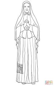 st frances xavier cabrini coloring page free printable coloring