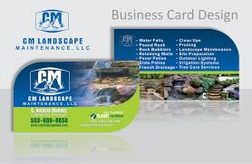 Landscape Business Cards Design Business Cards And Brochure Printing Services Great Price
