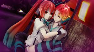anime happy halloween mmd pv happy halloween hatsune miku kagamine len 初音ミク