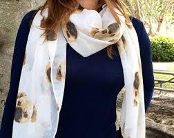 animal print scarf etsy