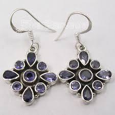 fabulous earrings silver iolite gems fabulous dangle earrings 3 6cm in drop earrings