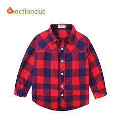 2016 new arrival boys shirt blouses fashion plaid cotton shirt