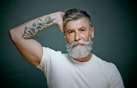 old man 60 year old man grows a beard that turns him into a fashion model