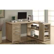 3 drawer corner desk natural desks u0026 workstations best buy