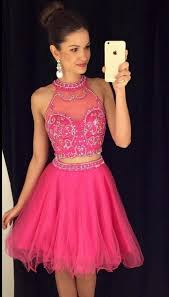 hot pink dress charming 2 pieces homecoming dresses hot pink homecoming dresses